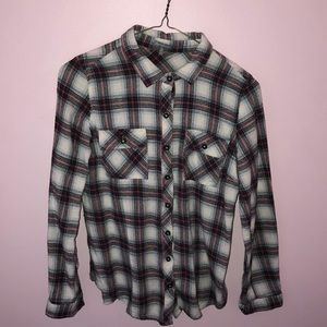 Plaid Button-Up Flannel